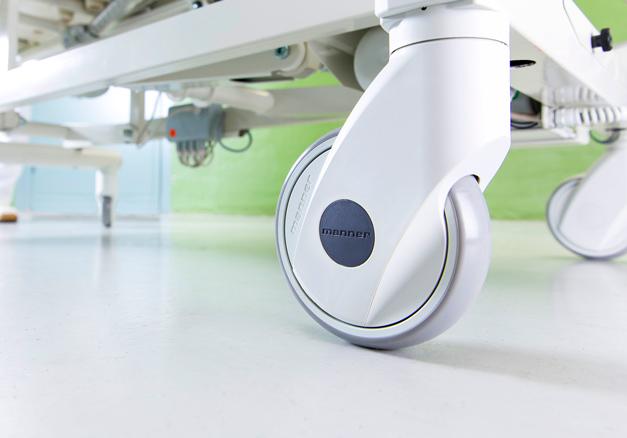 e-SMART kalustepyörä patentoidulla lukitusjärjestelmällä