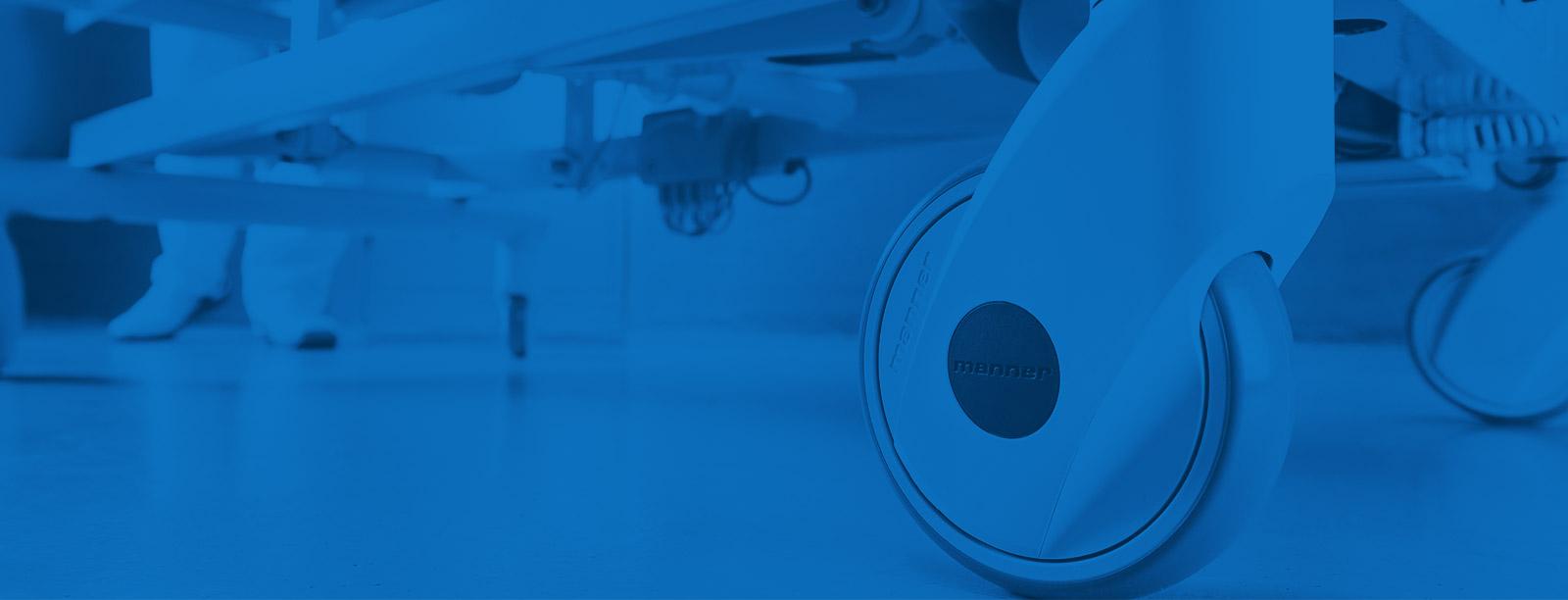 Mannerin kalustepyörät sopivat terveydenhuollon laitteisiin