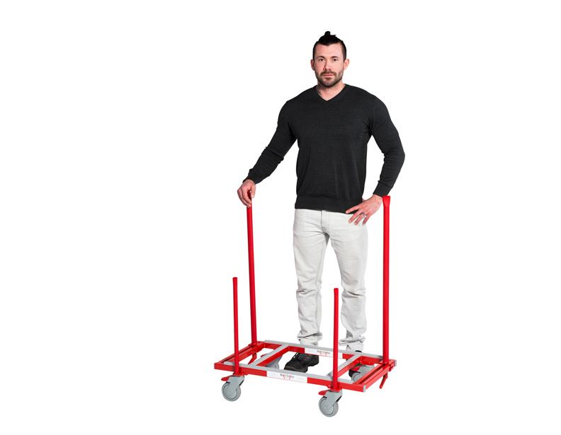 Multi Trolley liatr på Manners länkhjul
